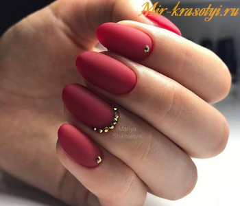 Дизайн ногтей красный 2019 фото новинки