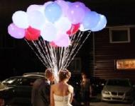 Оригинальные подарки из шаров на свадьбу