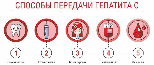 пути передачи вируса гепатит С