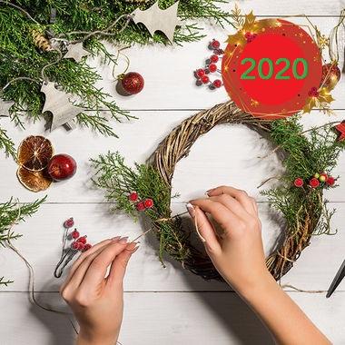 новогодний маникюр 2020
