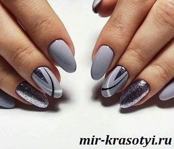 весенние дизайны ногтей с блестками 2020