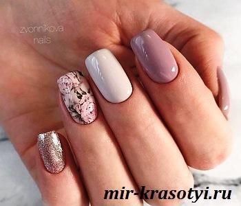 цветочные рисунки в весеннем дизайне ногтей 2020