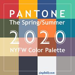 Spring Summer Pantone 2020