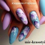 Летний дизайн ногтей с рисунком