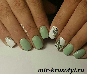 Новый дизайн ногтей с рисунком на короткие ногти